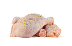 Chicken a shin in spices. Fresh chicken meat. Isolated object suitable for advertisement/websites stock images