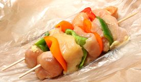Chicken Shish kabob Stock Photos