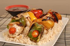 Chicken shish kabobs Royalty Free Stock Photo