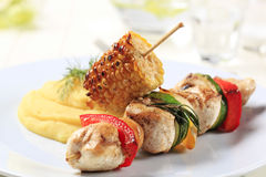 Chicken shish kebab Stock Photo