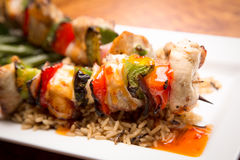 Chicken Shish kebab Stock Photos
