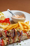 Chicken shish kebab Royalty Free Stock Images