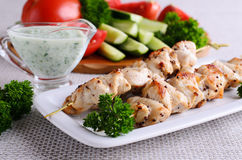 Chicken shish kebab Royalty Free Stock Photos
