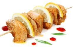 Chicken shish kebab with lemon Stock Photography