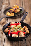 Chicken shish kebabs Stock Images