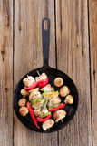 Chicken shish kebabs Stock Photo