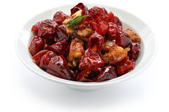 Chicken with sichuan chili peppers Stock Photography