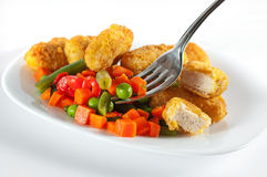 Chicken with side-dish Royalty Free Stock Photo