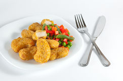 Chicken with side-dish Stock Photography