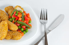 Chicken with side-dish Royalty Free Stock Image