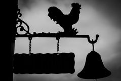 Chicken Signs. Signs Chicken Very beautiful silhouette Royalty Free Stock Image