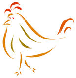 Chicken sketch Stock Photography