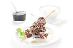 Chicken skewer Royalty Free Stock Image