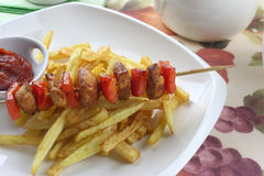 Chicken skewers Royalty Free Stock Photography