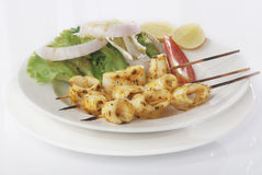 Chicken skewers Royalty Free Stock Photos