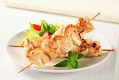 Chicken skewers Stock Photo