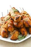 Chicken skewers stock image