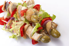 Chicken skewers Royalty Free Stock Image