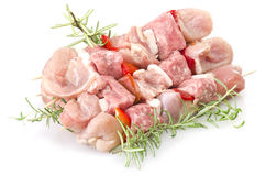 Chicken skewers Stock Image