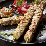 Chicken Skewers stock photography