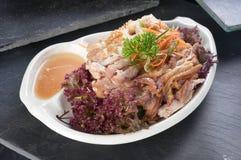 Chicken slices salad Stock Photos