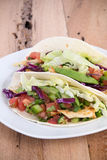 Chicken soft taco Royalty Free Stock Photography