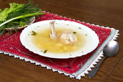 Chicken soup Stock Photography