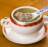 Chicken soup. Tasty chicken soup on the table Royalty Free Stock Images