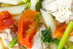 Chicken Soup. Soup with noodles and chicken Royalty Free Stock Photos