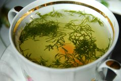 Chicken soup Stock Photo