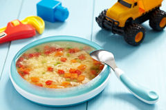 Chicken soup for baby Stock Images