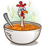 Chicken Soup Cartoon Character Royalty Free Stock Images