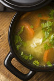 Chicken soup in the ceramic bowl Royalty Free Stock Photos