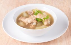 Chicken soup, chicken soup in a cup. Royalty Free Stock Photography