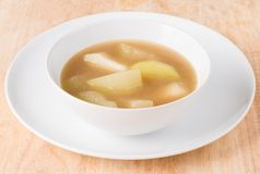 Chicken soup, chicken soup in a cup. Stock Photos
