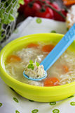 Chicken soup with meatballs Stock Image