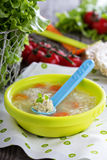 Chicken soup with meatballs Royalty Free Stock Photo