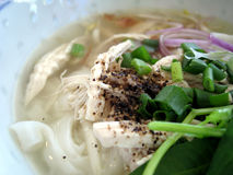 Chicken soup noodle Stock Photos