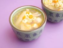 Chicken soup with noodles Stock Photography