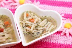 Chicken soup with noodles Royalty Free Stock Photography