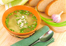 Chicken soup. Royalty Free Stock Image