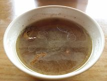 Chicken Soup. This is a chicken soup order by me at some restaurant Stock Photo