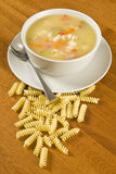 Chicken Soup with Pasta Stock Image