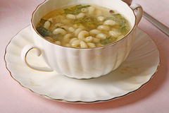 Pasta soup Stock Images