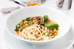 Chicken soup with pasta Royalty Free Stock Photos