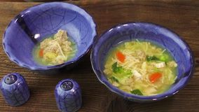 Chicken soup stock footage