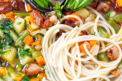 Chicken soup with pasta Royalty Free Stock Image