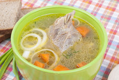 Chicken soup. Stock Photos