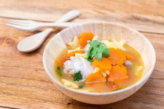 Chicken soup with potato and carrot Royalty Free Stock Photography