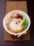 Chicken soup Rice on background, asia food Royalty Free Stock Images